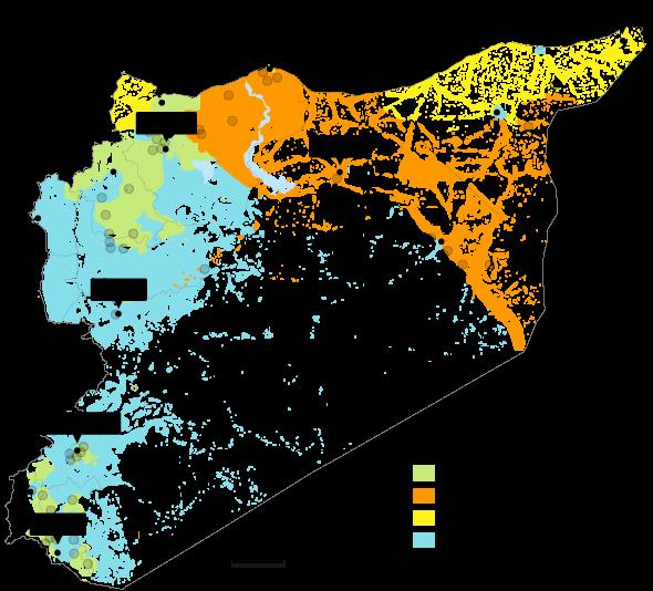 Karta Syrien Inifran Ekots Rapportering Fran Kriget Nyheter