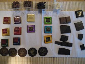 Vi fick så mycket choklad att smaka på.