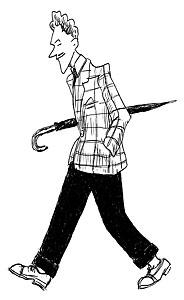 En fransk zazouz i en teckning från 40-talet.