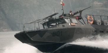 Stridsbåt 90. Arkivfoto: Don Titelman/Scanpix