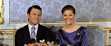 Daniel Westling och kronprinsessan Victoria. Foto: Leif R Jansson/Scanpix.