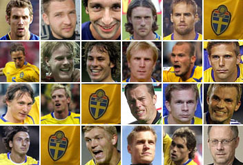 Svenska spelare som siktar på EM 2008 (Foto: PRB/Scanpix)