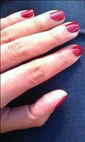 new concept 186d4 f070e Manikyr av naglar, djupt röda. Fräscht!
