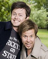 Fredrik Wikingsson och Filip Hammar. Foto: Mattias Ahlm/SR