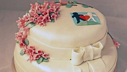 Världens Barn-tårtan. Foto: Cilla Fredholm