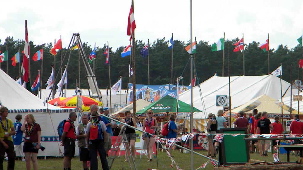 36 198 scouter från 142 länder deltar på World Scout Jamboree 2011. Foto: Linda Evereus/Sveriges Radio
