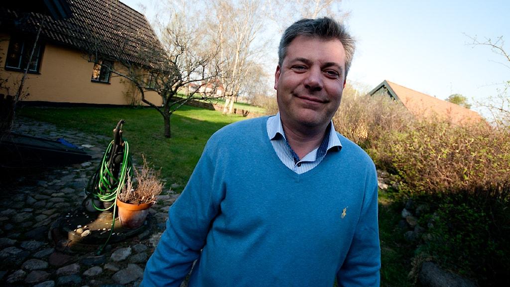 Pierre Månsson, folkpartist och kommunstyrelsens ordförande. Foto: Johan Pettersson/Sveriges Radio