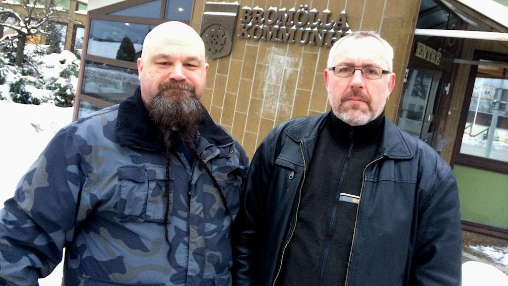 Mattias Gerdin och Thomas Bolin startar ett nytt parti i Bromölla Foto: Johan Pettersson/Sveriges Radio