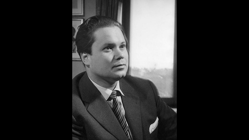 Sångaren Dietrich Fischer-Dieskau. Foto: SVT Bild