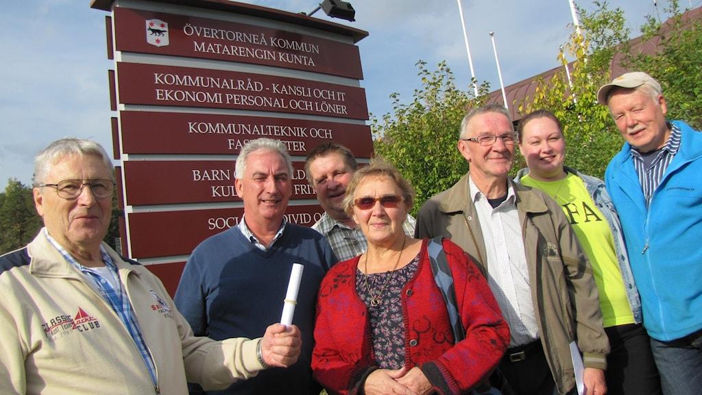 Holger Pekkala, Roland Kemppainen, Hans Mörtberg, Helena Haapaniemi, Rolf Mäkitalo, Marianne Salometsä, Leif Toolanen. Foto: Bertil Isaksson