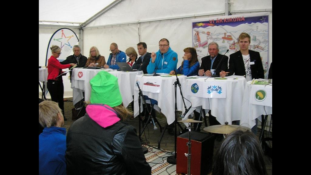 Valdebatt i Kiruna