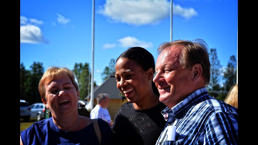Mona Mörtlund, Alice Bah Kunke och Bengt Niska.