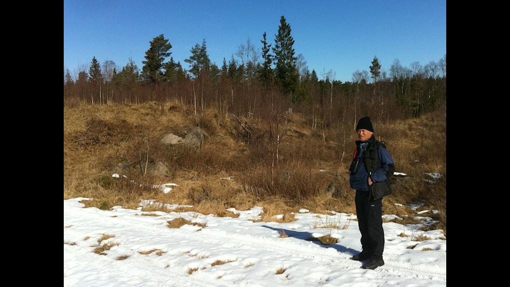 I en av nyckelbiotoperna på ministerns mark hittades körskador. Foto: Erik Kohlström/SR