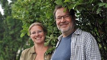 Nu slår sig redaktionerna för Klassisk morgon i P2 (Pernilla Eskilsdotter) och Naturmorgon i P1 (Lasse Willén) ihop för att göra två gemensamma program på temat musik och natur. Foto: Helena Söderlundh/Sveriges Radio