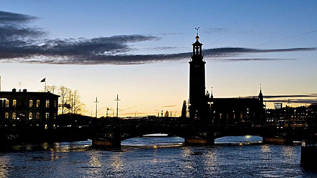 Vy över stadshuset i Stockholm. Foto: Henrik Montgomery / Scanpix.