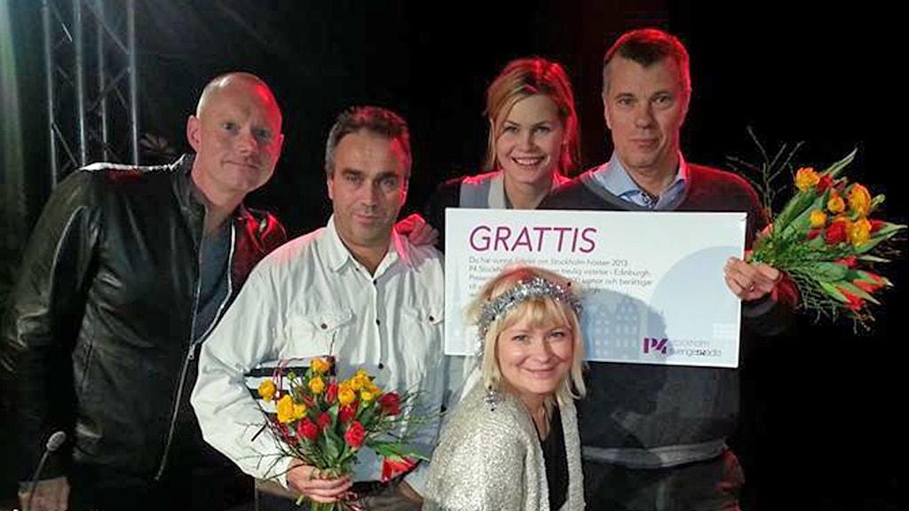 Mats vann den stora resechecken. Foto: Helen Ling /Sveriges Radio.