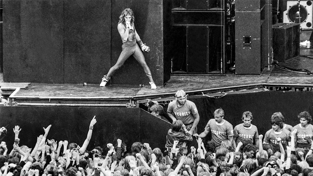 Van Halen på Monsters of Rock 1984.