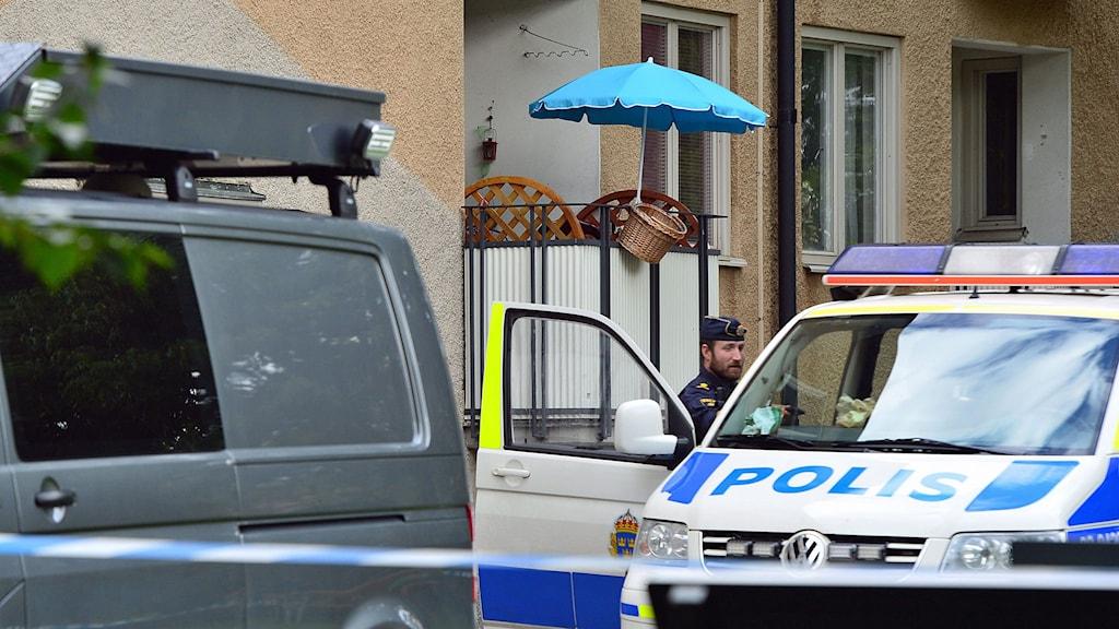 Kvinna hittats mördad i Hässelby. Foto: Johan Nilsson/TT.