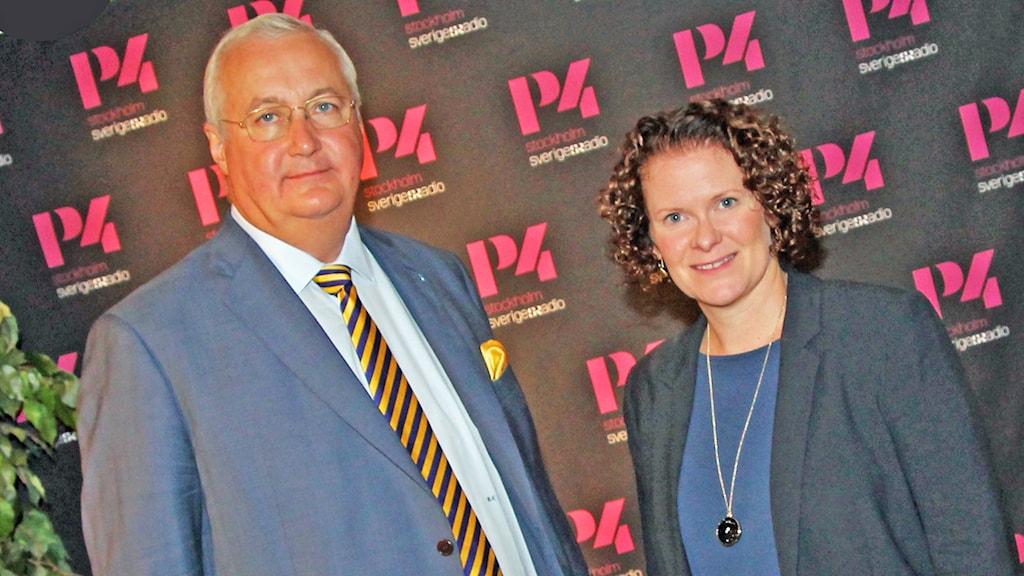 Sten Nordin (M) och Karin Wanngård (S). Foto: Helen Ling /Sveriges Radio.