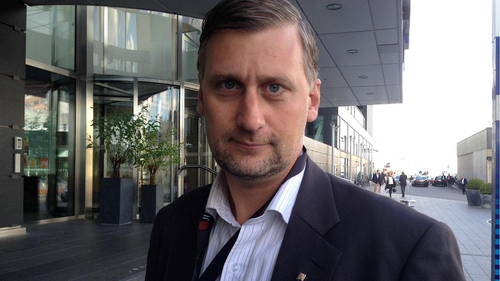 Daniel Dronjak Nordqvist (M) hittills Kommunstyrelsens ordförande i Huddinge. Foto: Johanna Sjöqvist/Sveriges radio