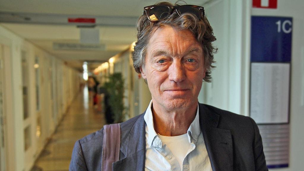 Johannes Brost i P4 Stockholm. Foto: Helen Ling /Sveriges Radio.
