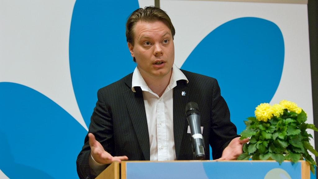 Martin Kinnunen, presstalesman i  Sverigedemokraterna. Foto: Leif R Jansson /TT.