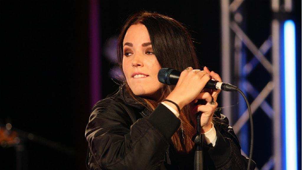 Miriam Bryant i Musikplats Stockholm. Foto: Lars-Åke Gustavsson/Sveriges Radio