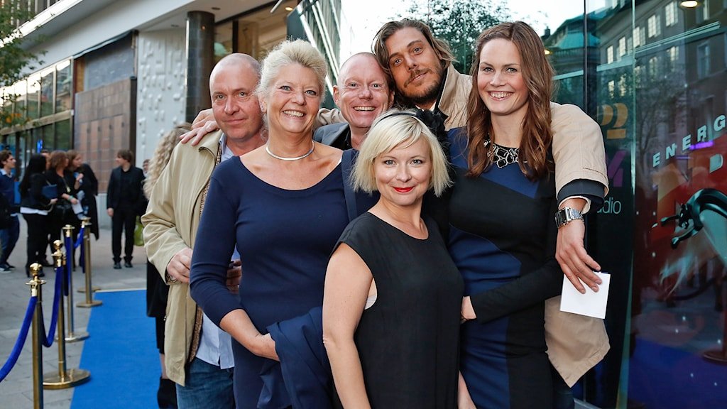 Anders, Mia, Peder, Alex, Josefine och Jenny. Foto: Micke Grönberg /Sveriges Radio.