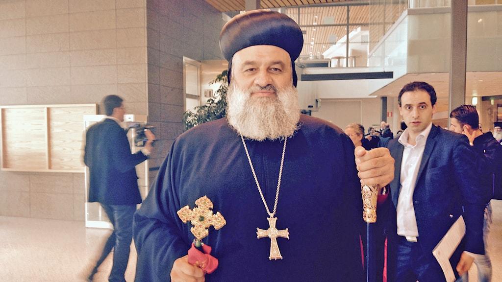 Patriark Ignatius Aphrem den andre. Foto: Nadya Norton/ Sveriges Radio.