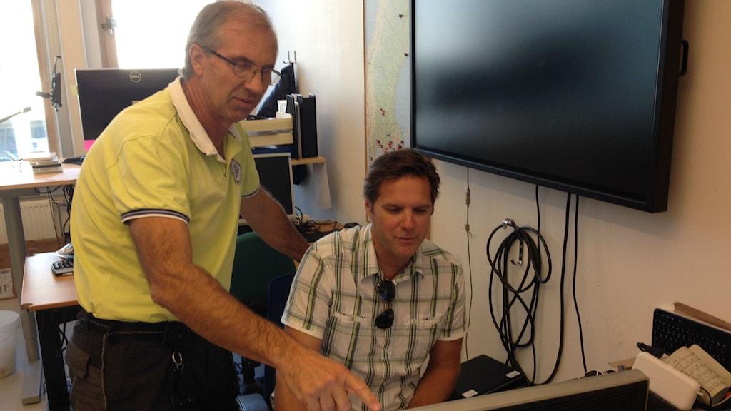 Magnus Kvist, skol-IT-ansvarig, till vänster och Peter Borg, IT-pedagog Kungälvs kommun.