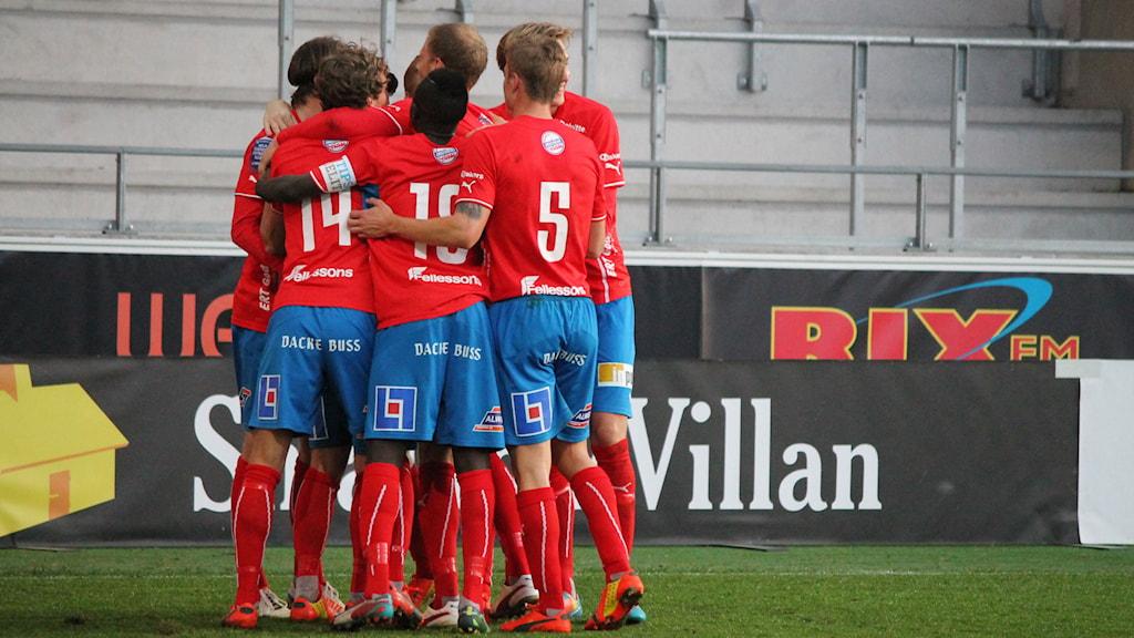 Öster har gjort mål. Foto: Emma Kvennberg/Sveriges Radio