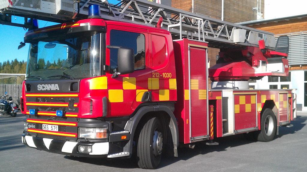 Brandbil, räddningstjänsten i Umeå.