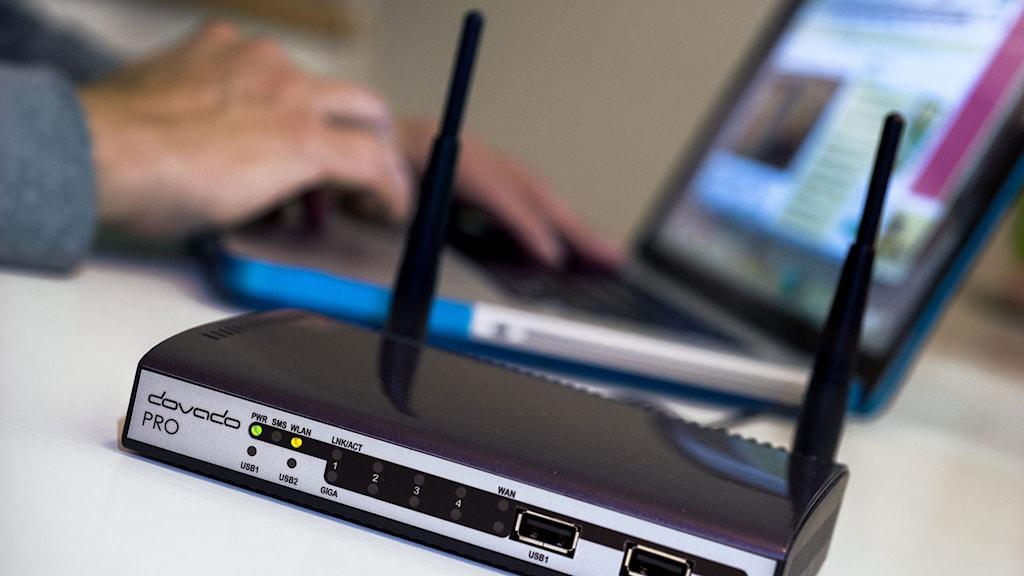 En 4G-router. Foto: Claudio Bresciani/TT