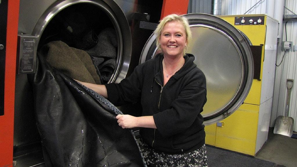 Sussi Kalliga, företagare i Riddarhyttan. Foto: Eva Kleppe/SR Västmanland