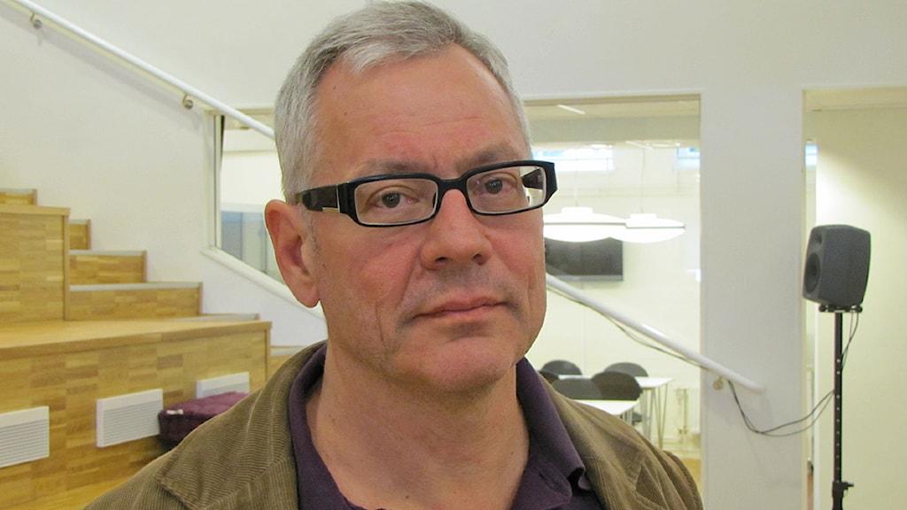 Hans Jansson distriktsordförande för Vänsterpartiet i Västmanland. Foto: Monica Elfström/SR.