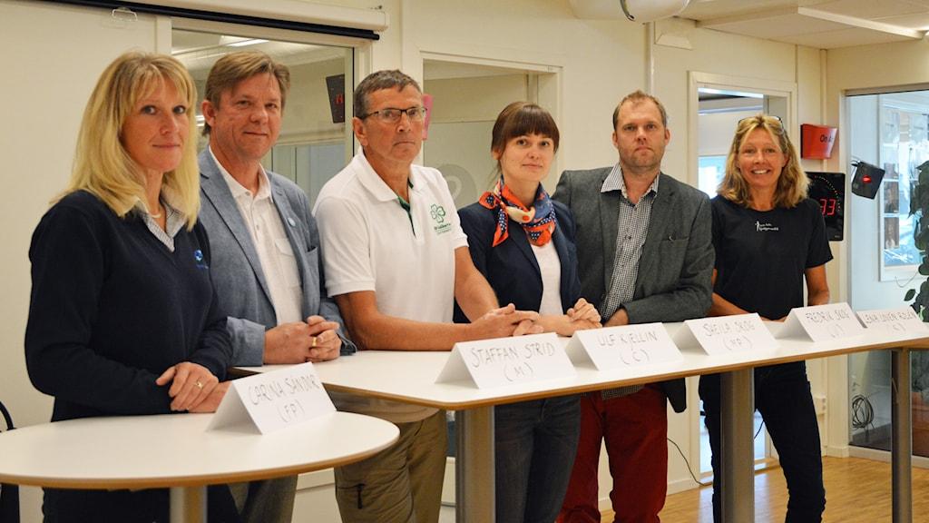 Politikerna är laddade för debatt. Foto: Eva Kleppe/Sveriges Radio.