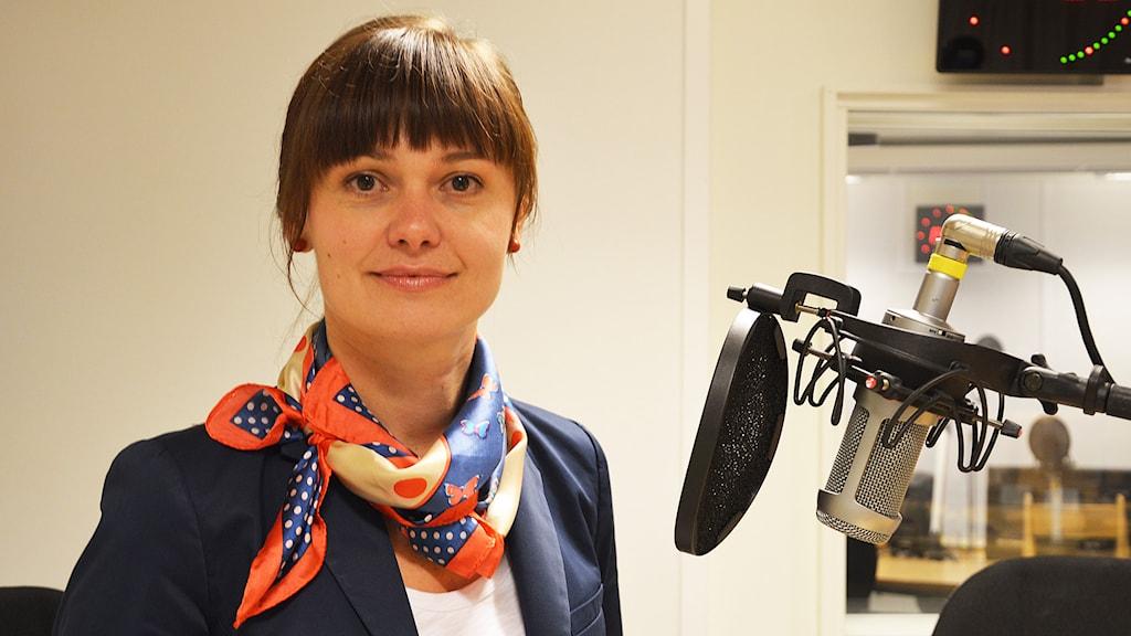 Sheila Skog (MP). Foto: Eva Kleppe/Sveriges Radio.