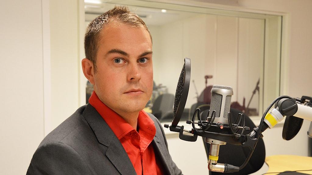 Johan Henriksson (SD). Foto: Eva Kleppe/Sveriges Radio.