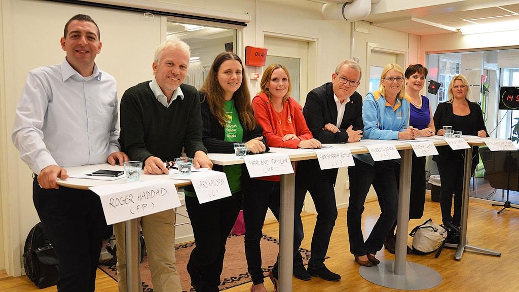 Västeråspolitikerna du hör i Minutrundan. Foto: Eva Kleppe/Sveriges Radio.