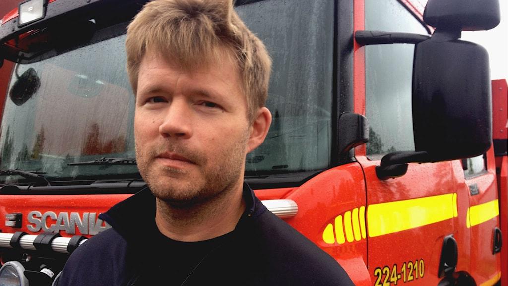 Brandmannen Björn Svensson.