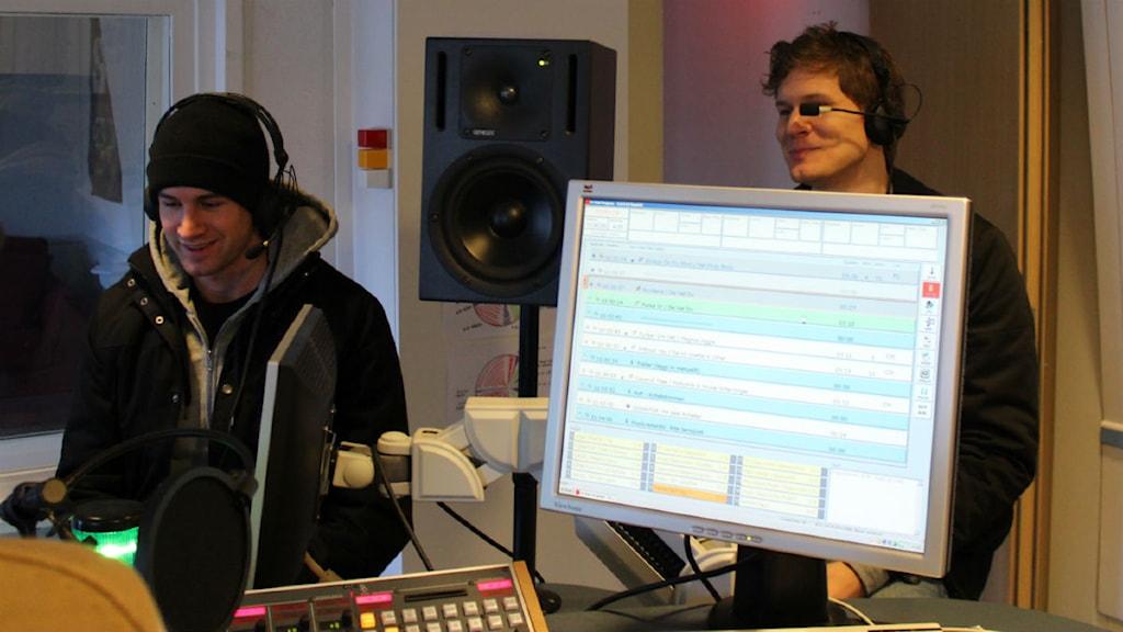 Christopher Martland och Johan Gunterberg är två av medlemmarna i De vet du. Foto: Patrik Enlund/Sveriges Radio