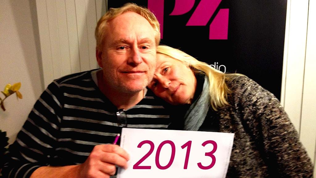 Framåt fredags Peter Sundblad och Bente Hjelm. Foto: Susanna Wictorzon/Sveriges Radio.