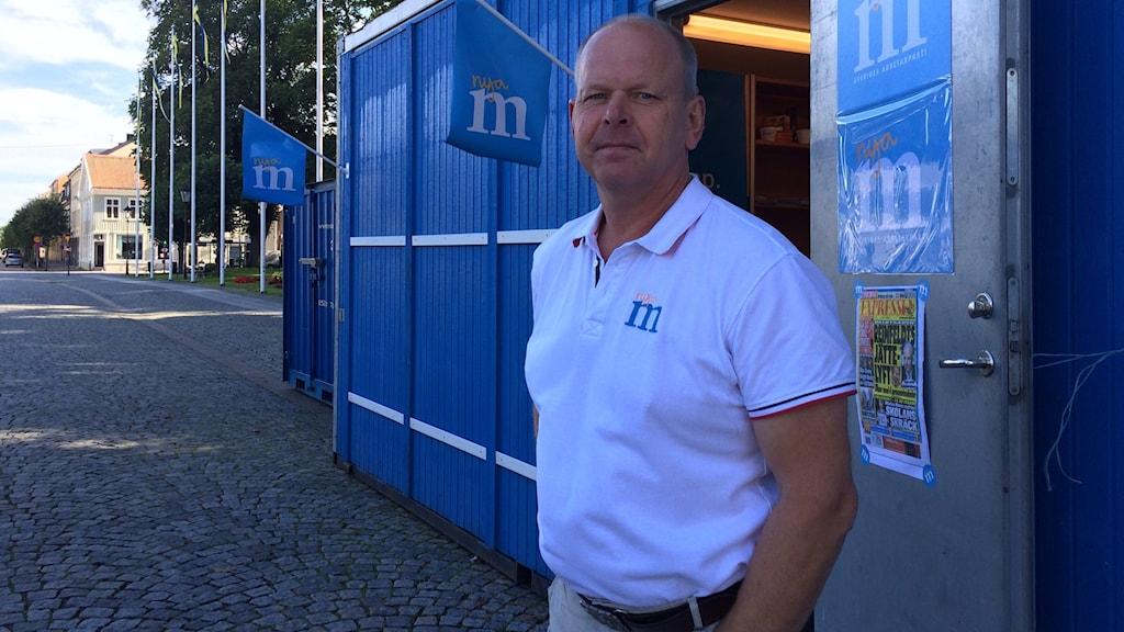 Gunnar Lidell, kommunalråd (M) i Vänersborg. Foto: Cecilia Bergil/Sveriges Radio