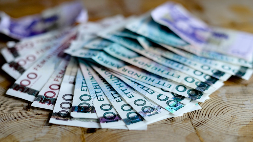 Svenska sedlar. Foto: Pontus Lundahl/TT.