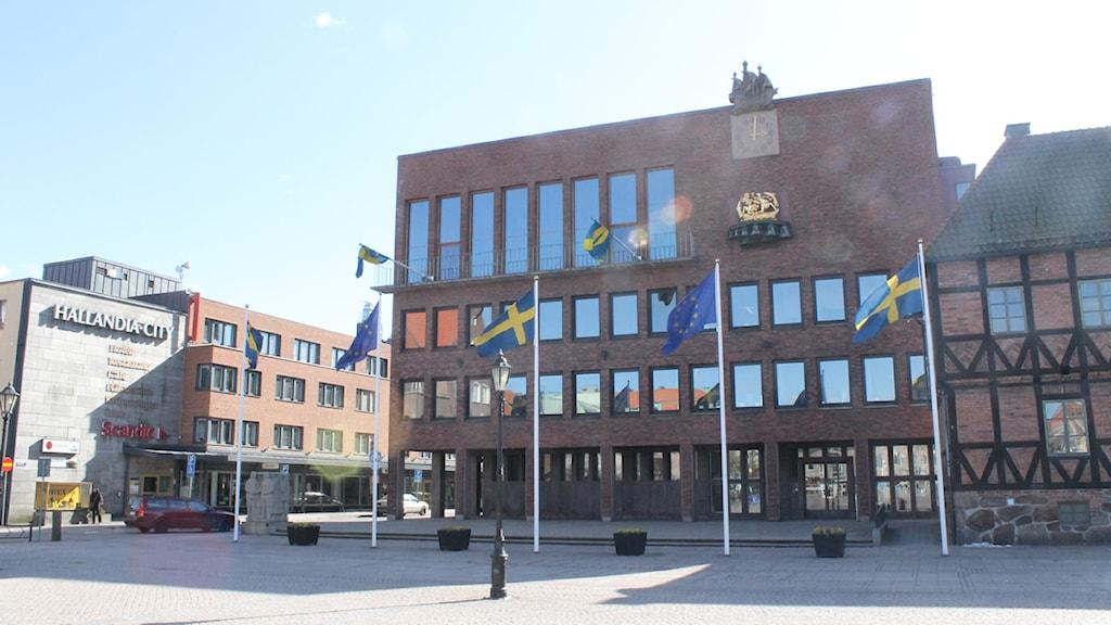 Rådhuset Halmstad kommunhuset Foto: Sara Hector/Sveriges Radio