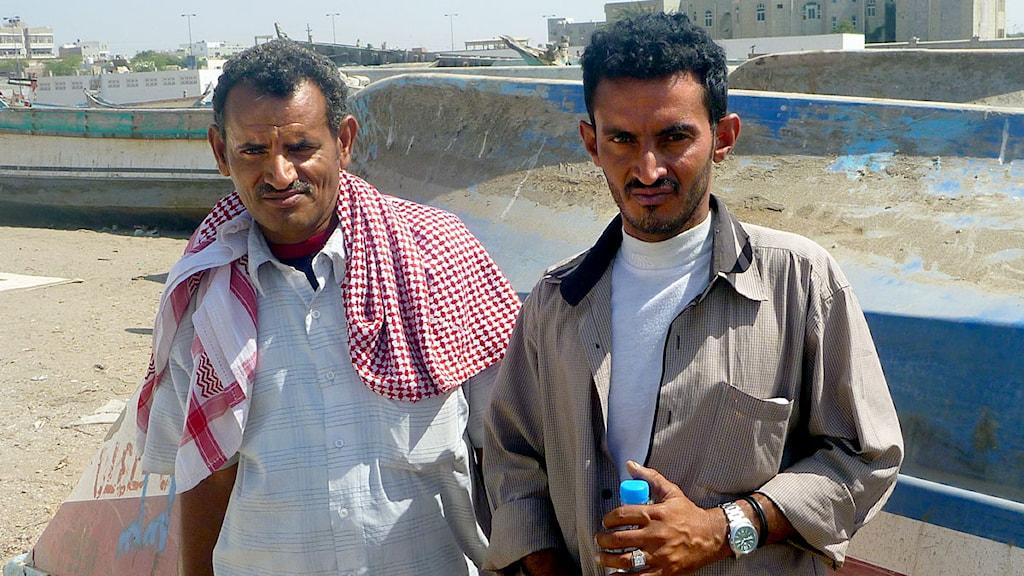 Hassan Abdullah Quanas och Najib Ahmed. Foto: Sveriges Radio.