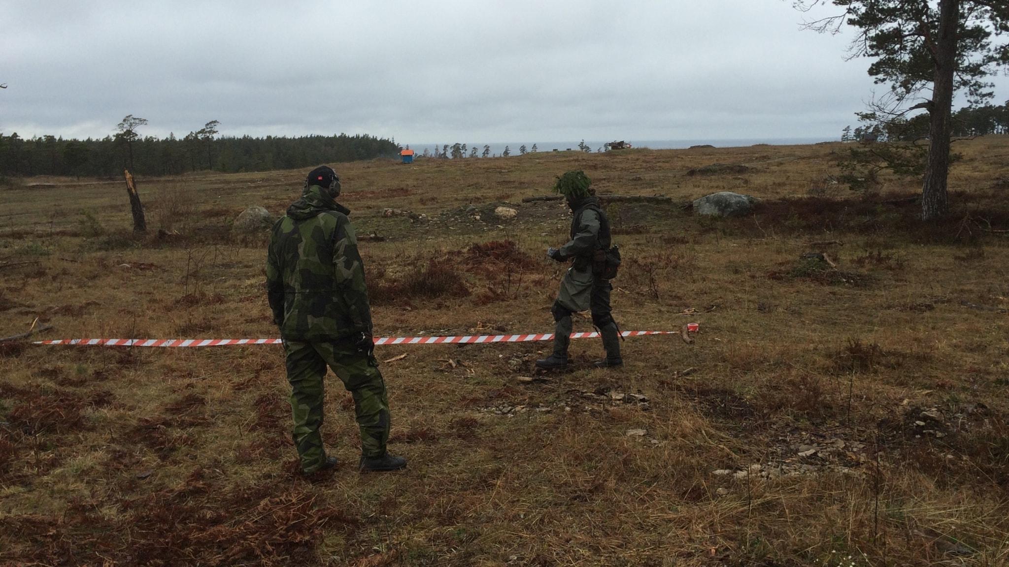 Försvaret på Gotland – det bidde en tumme