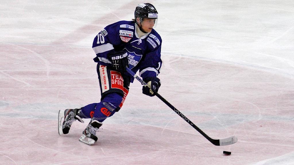 Marcus Nilsson BIK Karlskoga. Arkivbild:Valdemar Andersson/SR Örebro