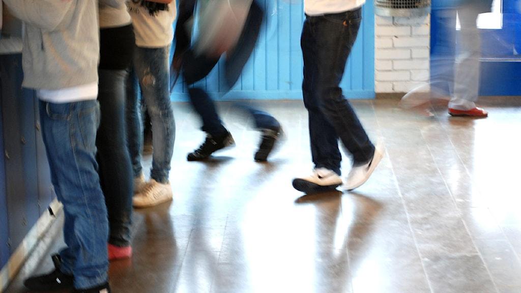 Skolkorridor. Foto: Karin Hellzén/Sveriges Radio
