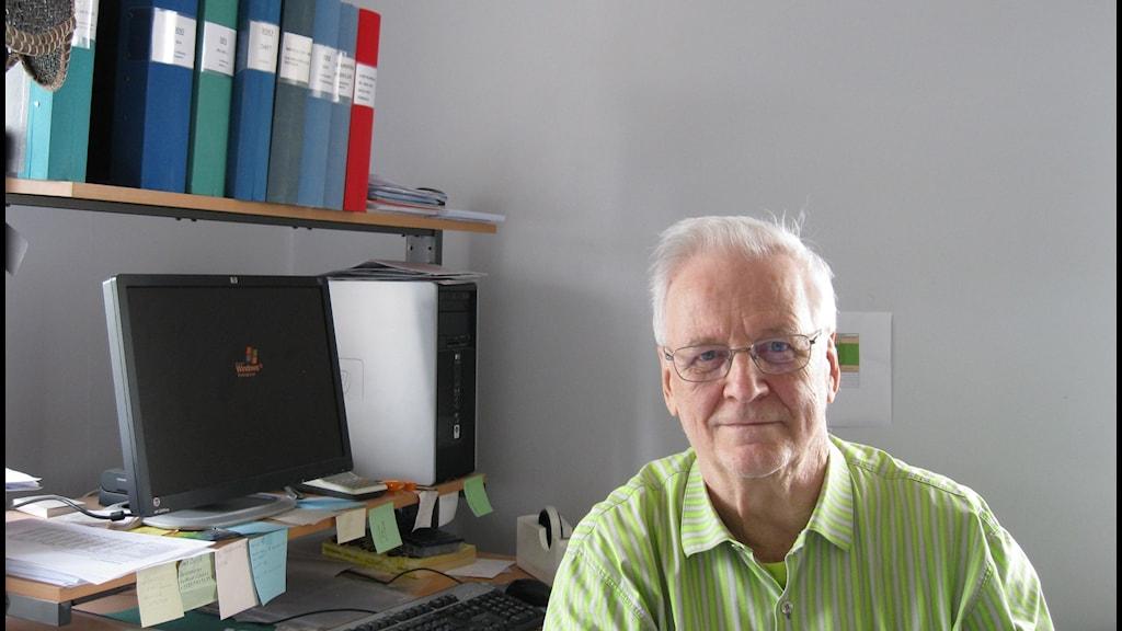 Matti Lautkoski, rektor för Sverigefinska språkskolan. Foto: Maria Elisson/SR Örebro